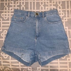 American Apparel Shorts - american apparel high waisted jean shorts
